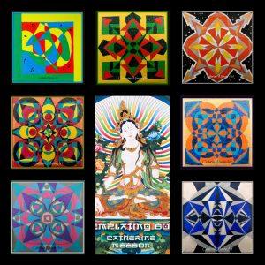 Contemlating Buddha Art collage